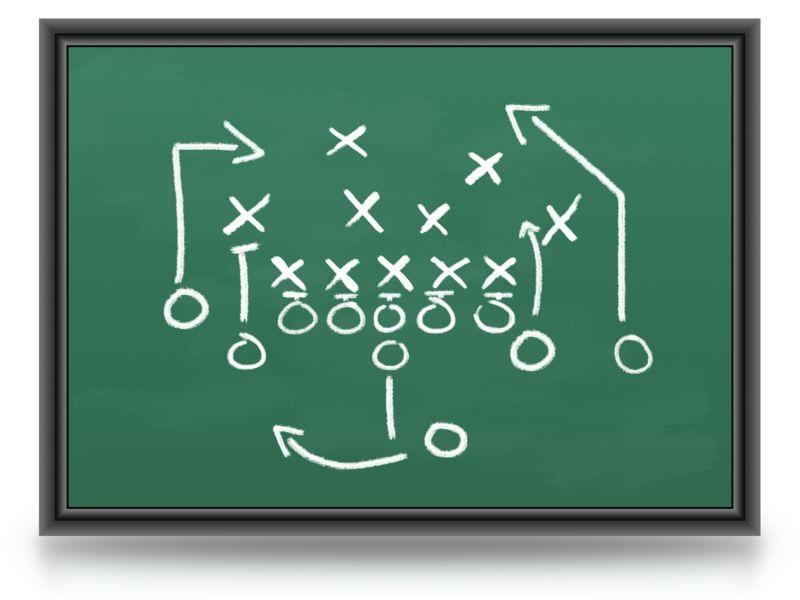 Clipart - Game Plan Chalkboard
