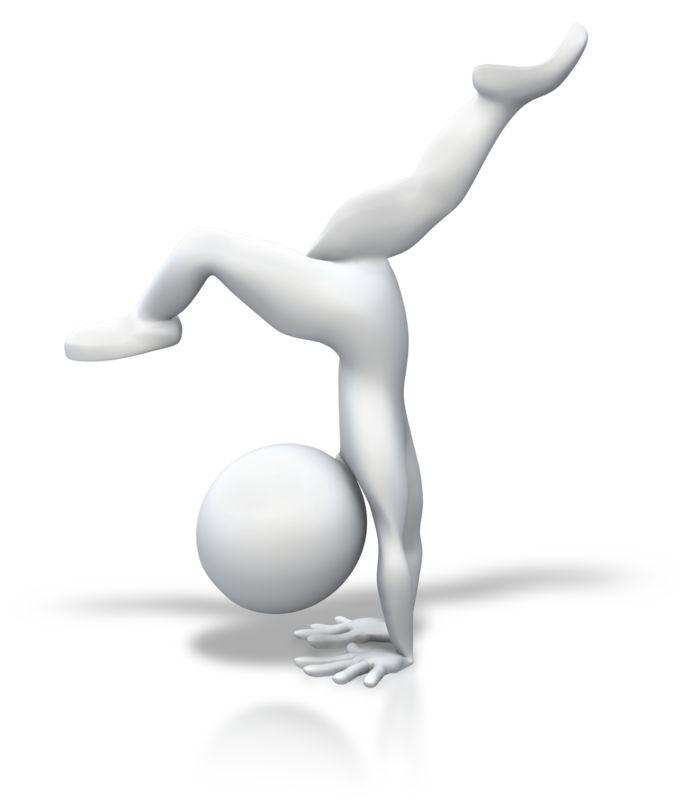 Clipart - Stick Figure Gymnastics Split Handstand