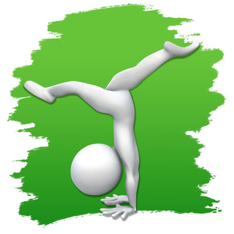 Clipart - Stick Figure Gymnastics Icon