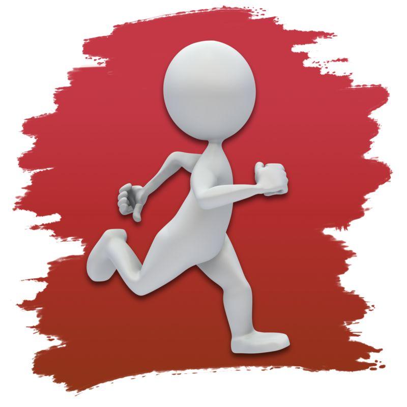 Clipart - Stick Figure Running Icon