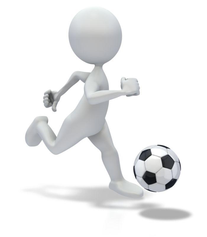 Clipart - Stick Figure Dribbling Soccer ball