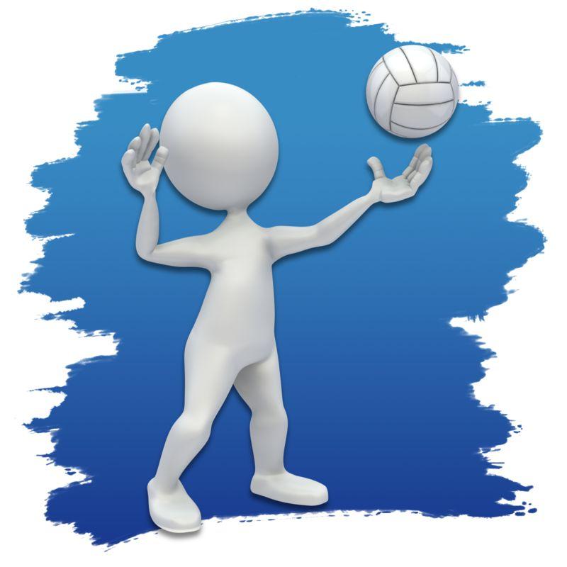 Clipart - Stick Figure Volleyball Icon