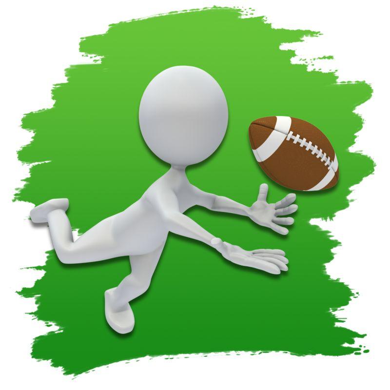 Clipart - Stick Figure Football Icon
