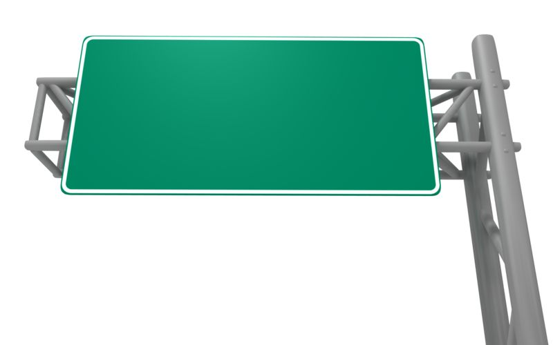 Clipart - Blank Freeway Sign