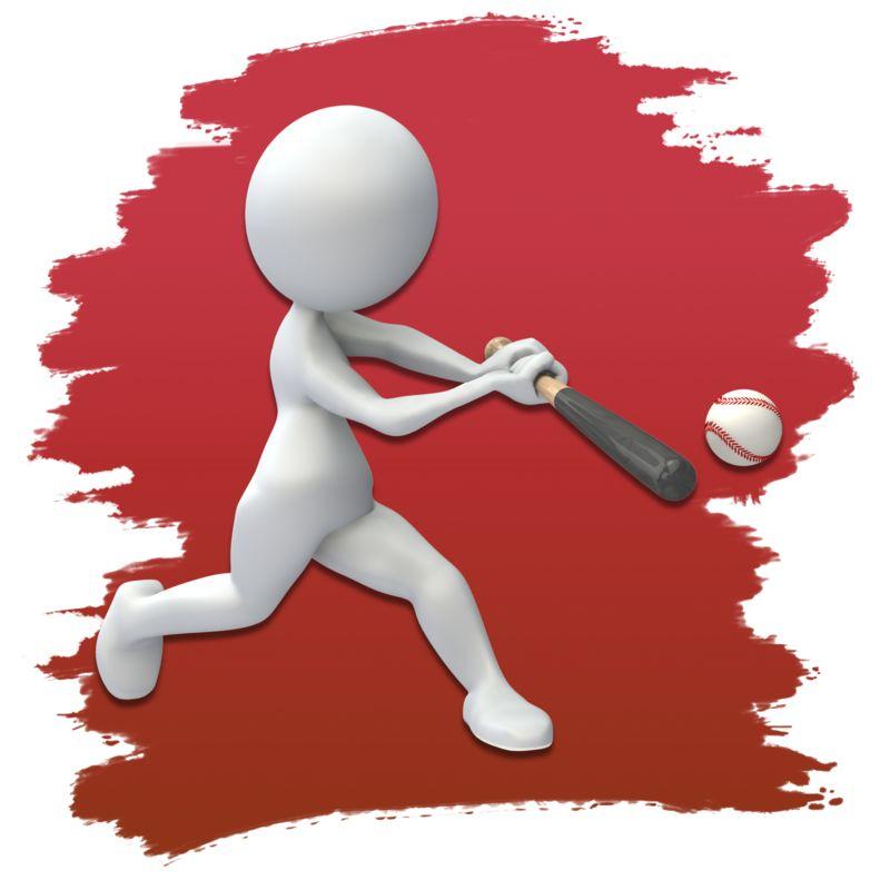 Clipart - Stick Figure Baseball Icon