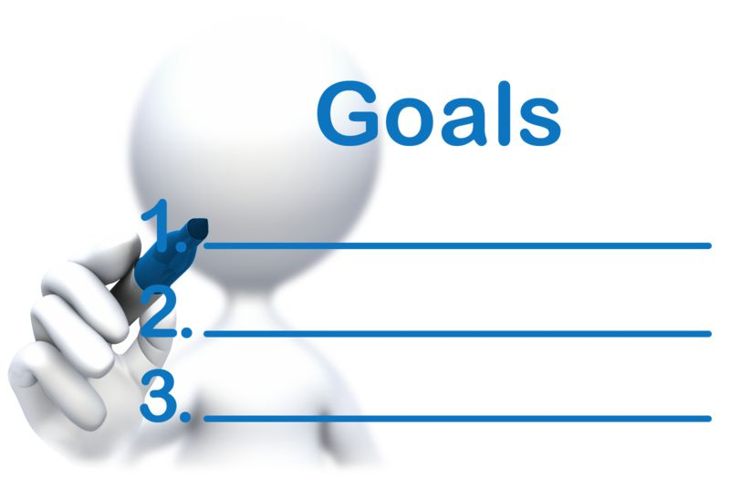 Clipart - Stick Figure Drawing Goals