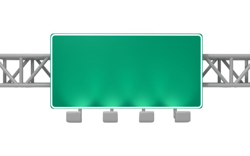 Clipart - Overhead Freeway Sign