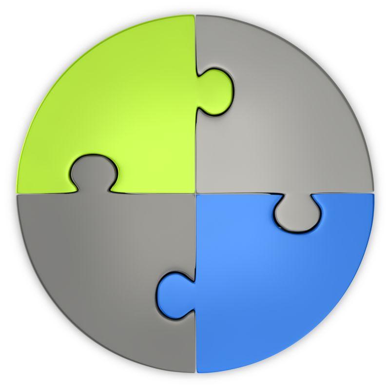 Clipart - Puzzle Pie Chart Top