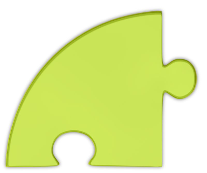 Clipart - Pie Chart Puzzle Piece Green