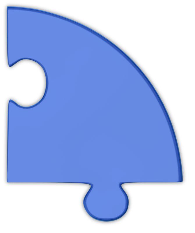 Clipart - Pie Chart Puzzle Piece Blue