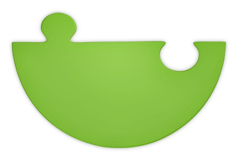 Clipart - Green Puzzle Piece Half