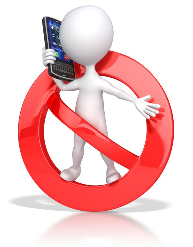 Clipart - No Cell Phone Use