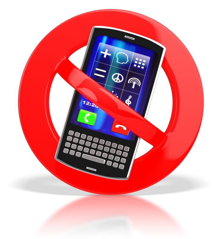 Clipart - No Cell Phones