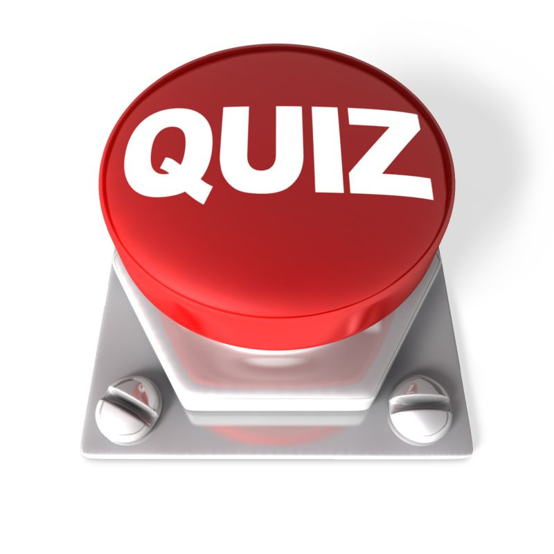 Clipart - Red Quiz Button