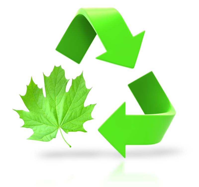 Clipart - Leaf Circle Recycle Arrows