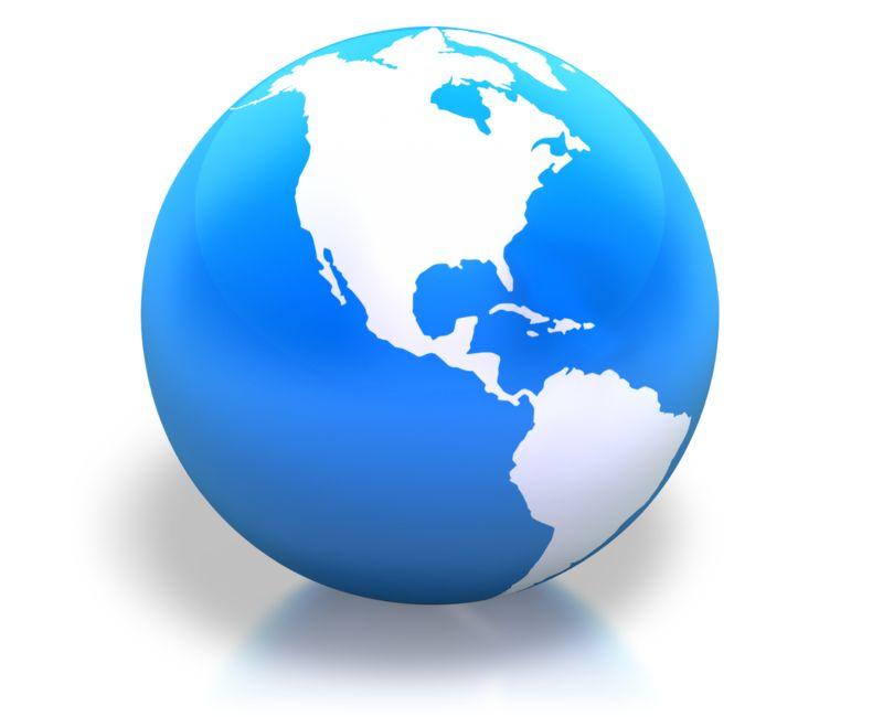 Clipart - Earth Americas Blue Shiny