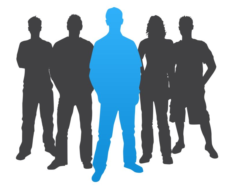 Clipart - Man Leader Casual Silhouette