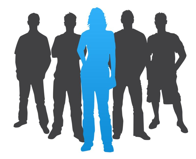 Clipart - Woman Leader Casual Silhouette