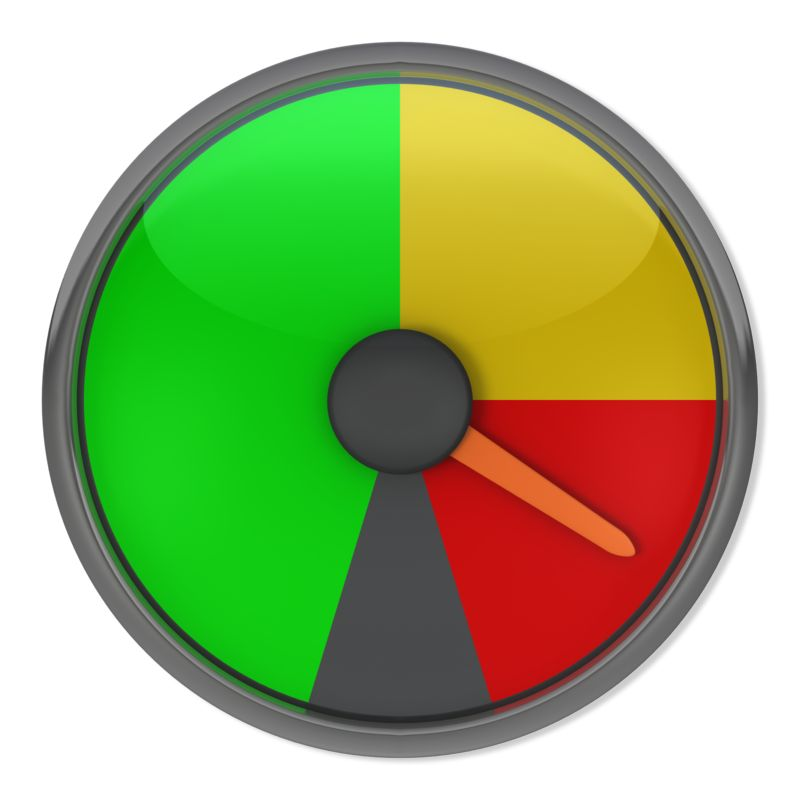 Clipart - Red Gauge Indicator