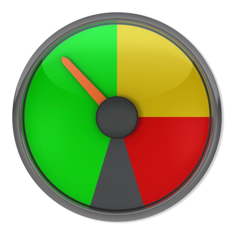 Clipart - Green Gauge Indicator