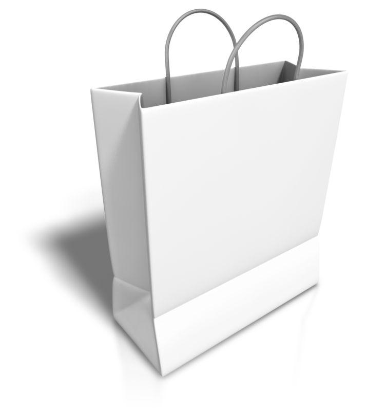 Clipart - Empty White Shopping Bag