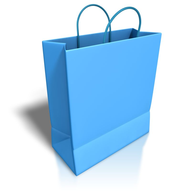 Clipart - Empty Blue Shopping Bag