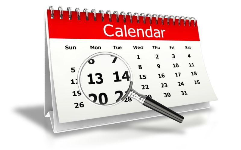 Clipart - Magnify Desk Calendar Month View