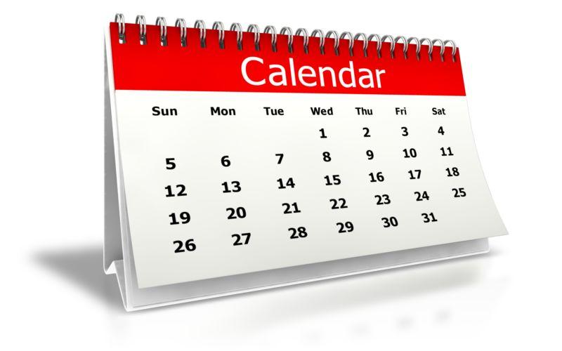 Clipart - Desk Calendar Month