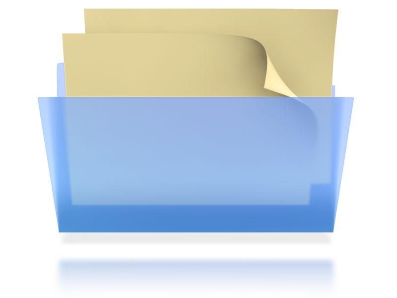 Clipart - Transparent File Folder