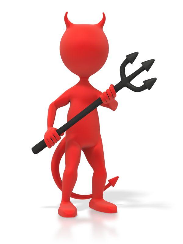 Clipart - Red Devil Figure
