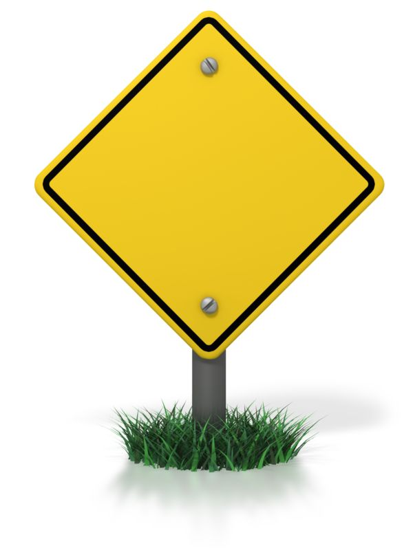 Clipart - Blank Caution Sign