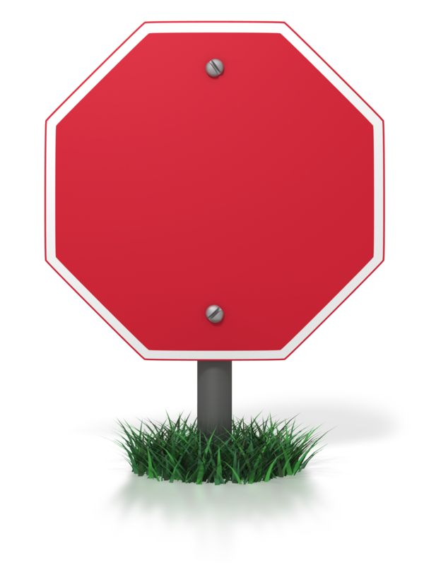 Clipart - Blank Stop Sign