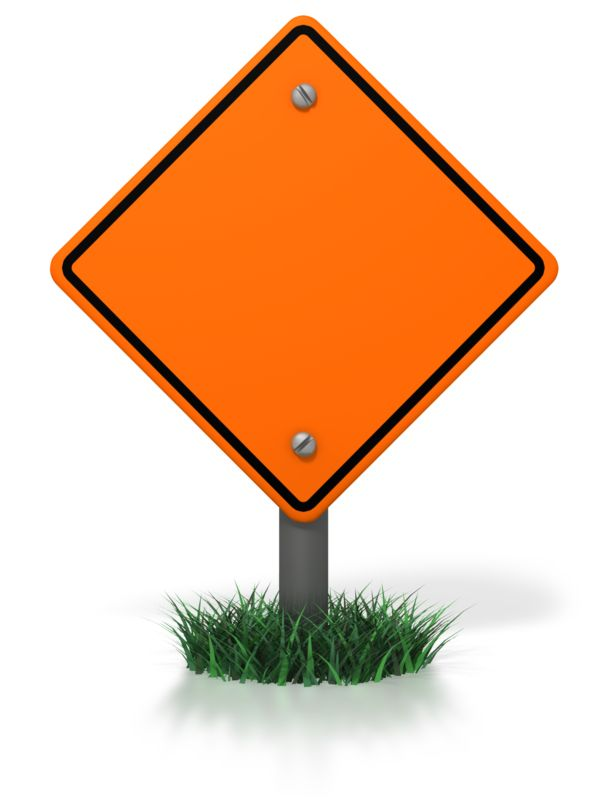 Clipart - Blank Construction Sign
