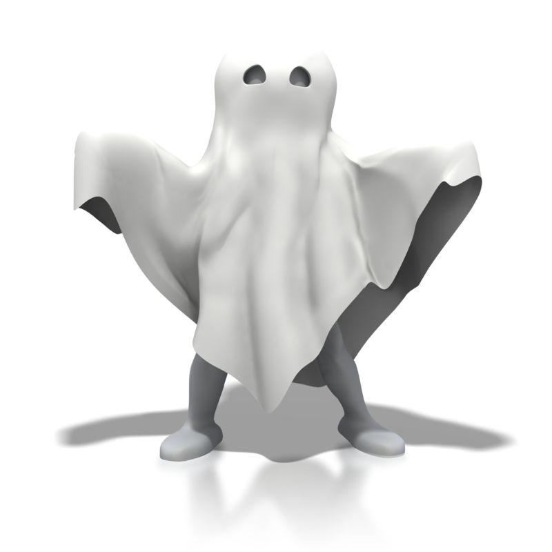 Clipart - Stick Figure Ghost Spooky