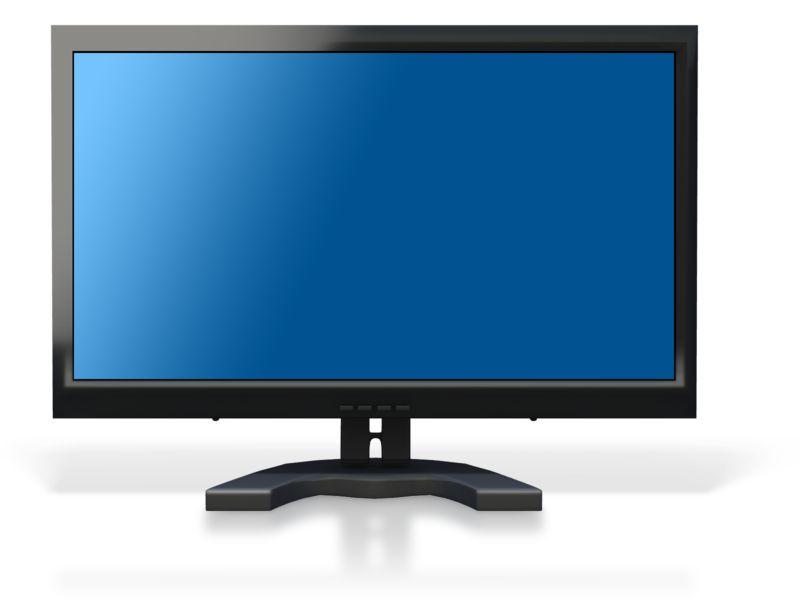 Clipart - Computer Monitor Blue Screen
