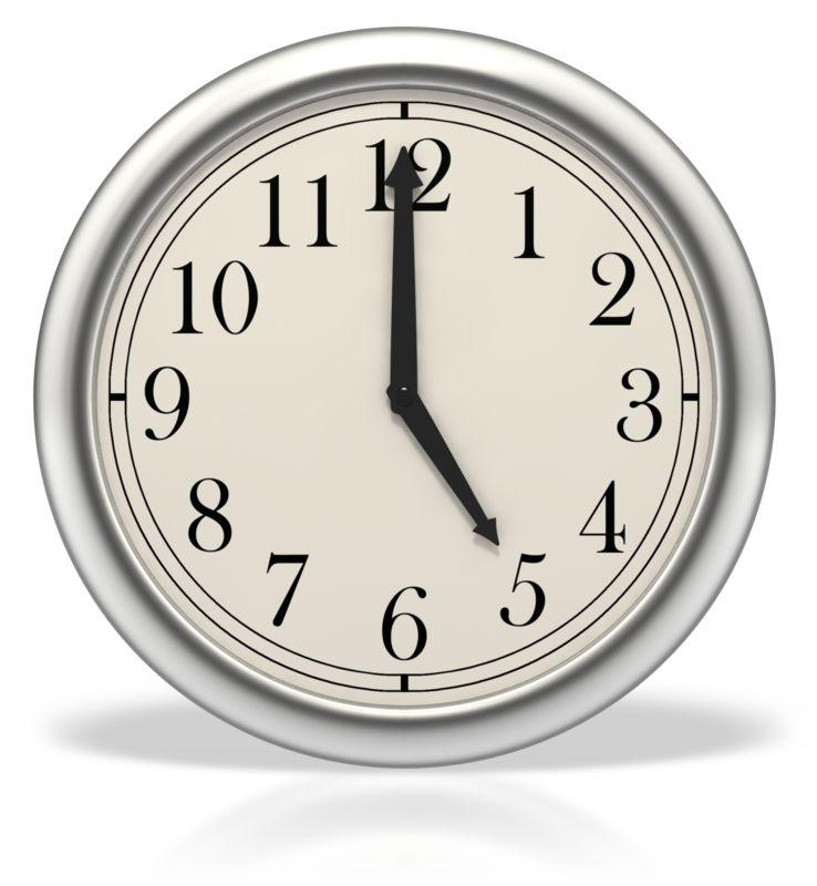 Clipart - Five o'clock