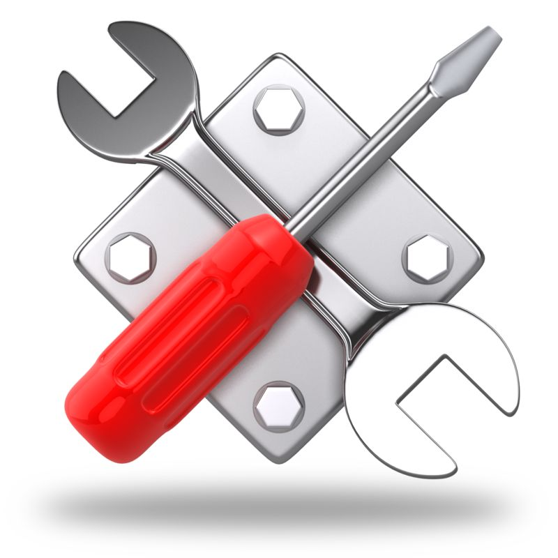Clipart - Work Tools Criss Cross Icon