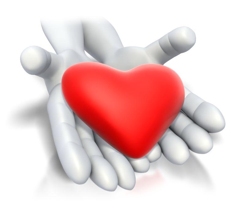 Clipart - Heart In Hands
