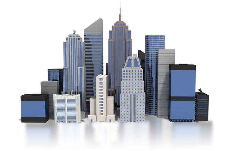 Clipart - City Downtown Buildings