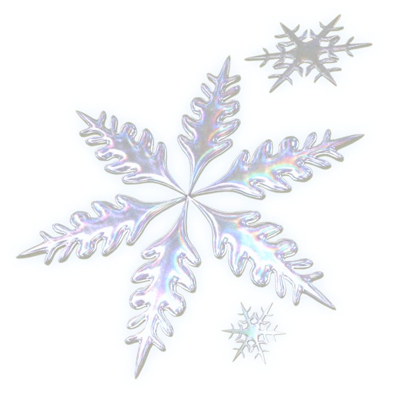 Clipart - Three Snowflakes