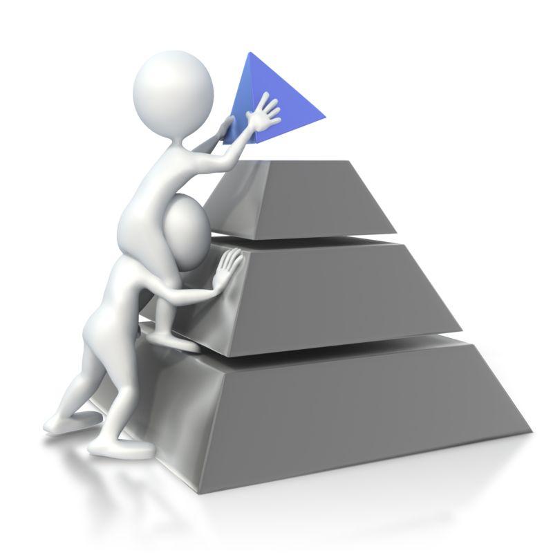 Clipart - Figures Build Pyramid