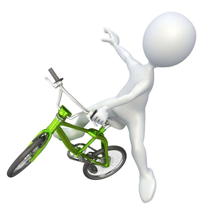 Clipart - Stick Figure Jumping BMX Bike
