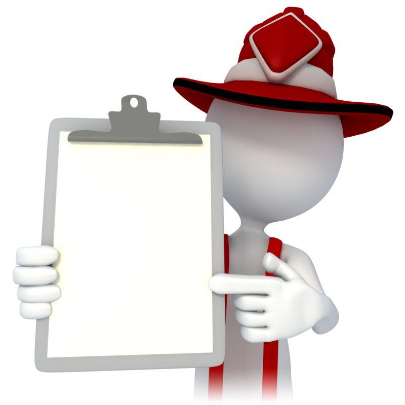 Clipart - Firefighter Point Chart