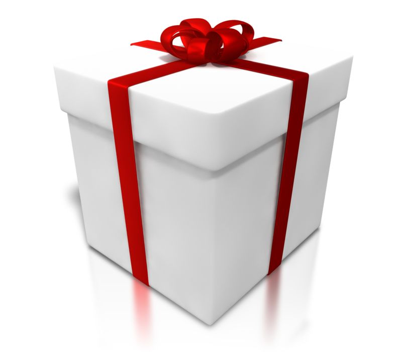 Clipart - White Gift Shiny Wrapping