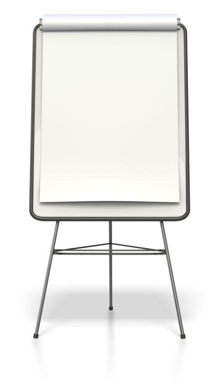 Clipart - Blank Presentation Flip Board