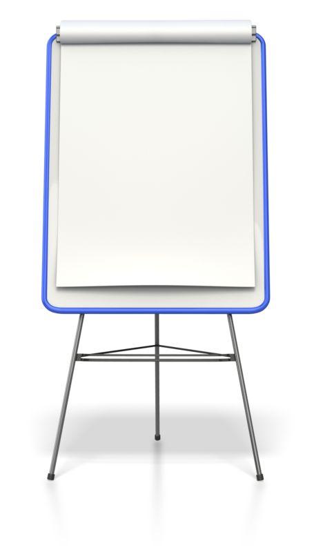 Clipart - Blank Colored Presentation Flip Board