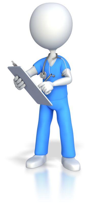Clipart - Nurse Doctor Surgeon Charting