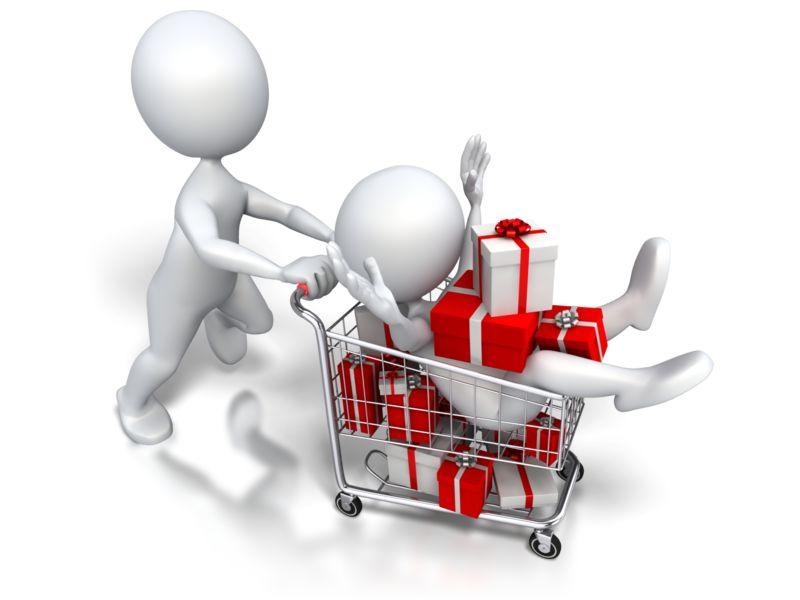 Clipart - Holiday Shopping Jackpot