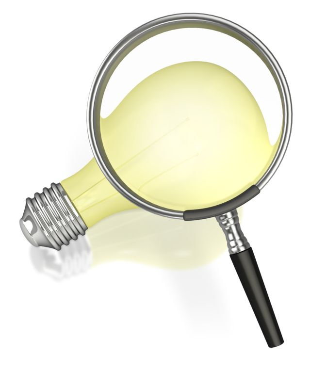 Clipart - Searching for an Idea
