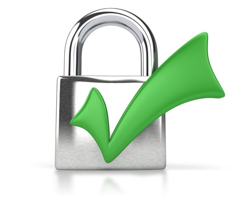 Clipart - Lock Check Mark